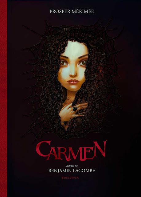Benjamin Lacombe Portada del Libro Carmen