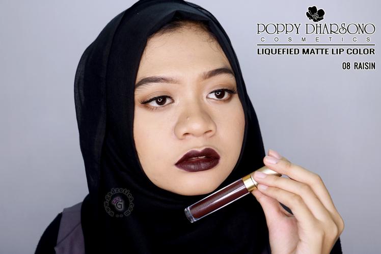 Poppy Dharsono Liquefied Matte Lip Color Raisin