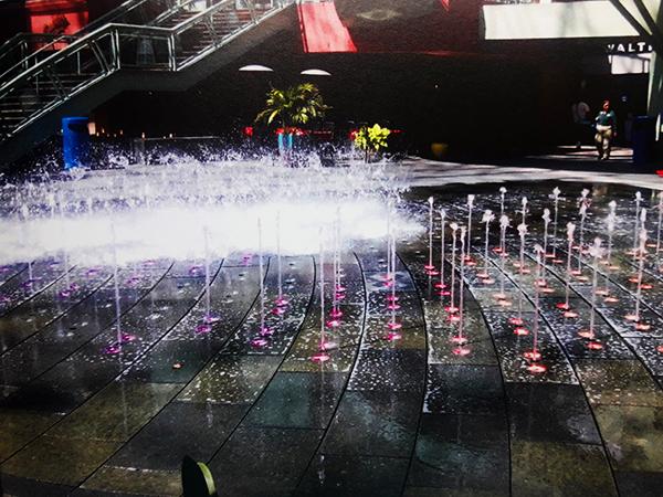 water fountain at city walk