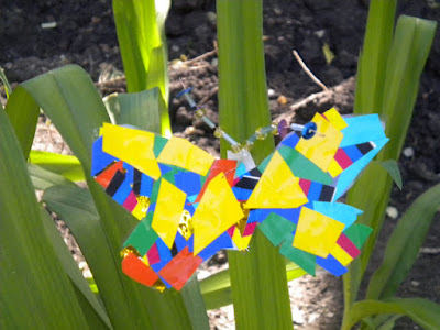 Аппликация Бабочки, сделана с помощью самоклеющейся пленки