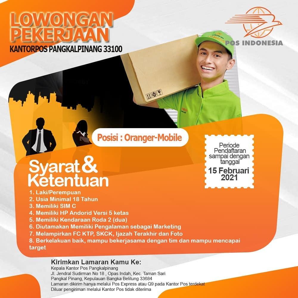 Lowongan Kerja Lowongan Kerja PT Pos Indonesia (Persero ...