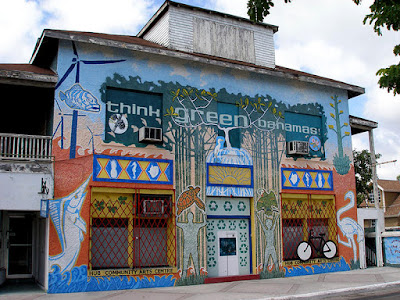 The Hub building, Bay St., Nassau, Bahamas.