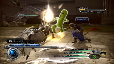 Final Fantasy XIII-2 battle scene