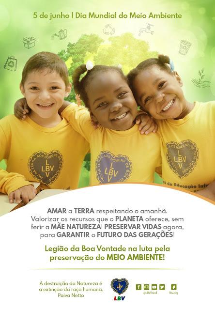 Semana do Meio Ambiente é vivenciada na prática diária de crianças e adolescentes da LBV