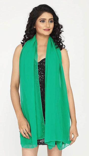Best Green Chiffon Scarves