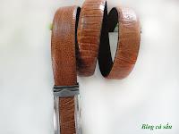 dây lưng đà điểu vàng 2