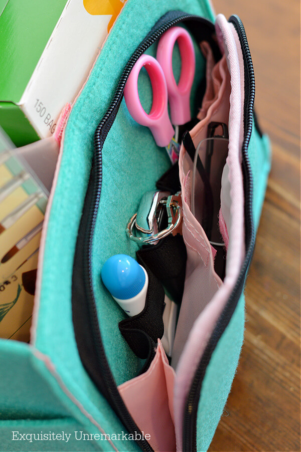 Mimmo Caddy Zippered Compartment