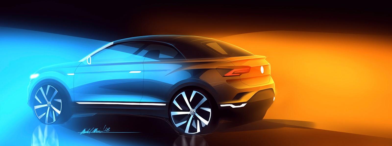 Volkswagen T-Roc Cabriolet sketch by Michal Uhrin