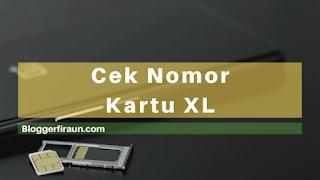 Cara mudah dan cepat cek nomor kartu XL