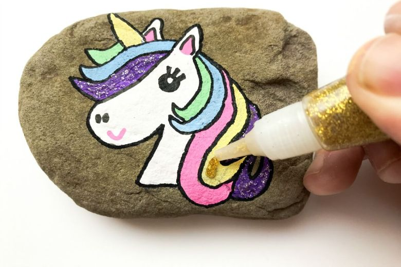 unicorn rock painting ideas for kids