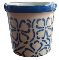 flower design ceramic pot
