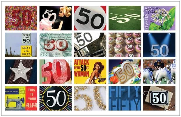 Geburtstagskarte 2 x 50