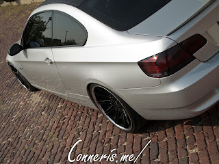 BMW 335i E92 rear angle brick