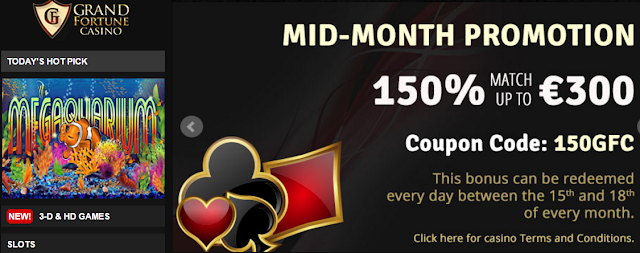 Grand Fortune Casino Mid Month Promo
