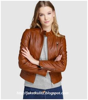 Gambar Model Jaket Kulit Casual Wanita