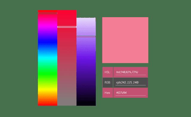 Bar Palette Color Picker