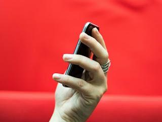 palm phone on palm