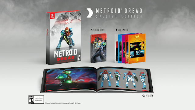 Metroid Dread Special Edition art book cards steel case
