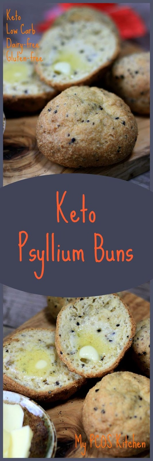KETO LOW CARB BUNS WITH PSYLLIUM HUSK