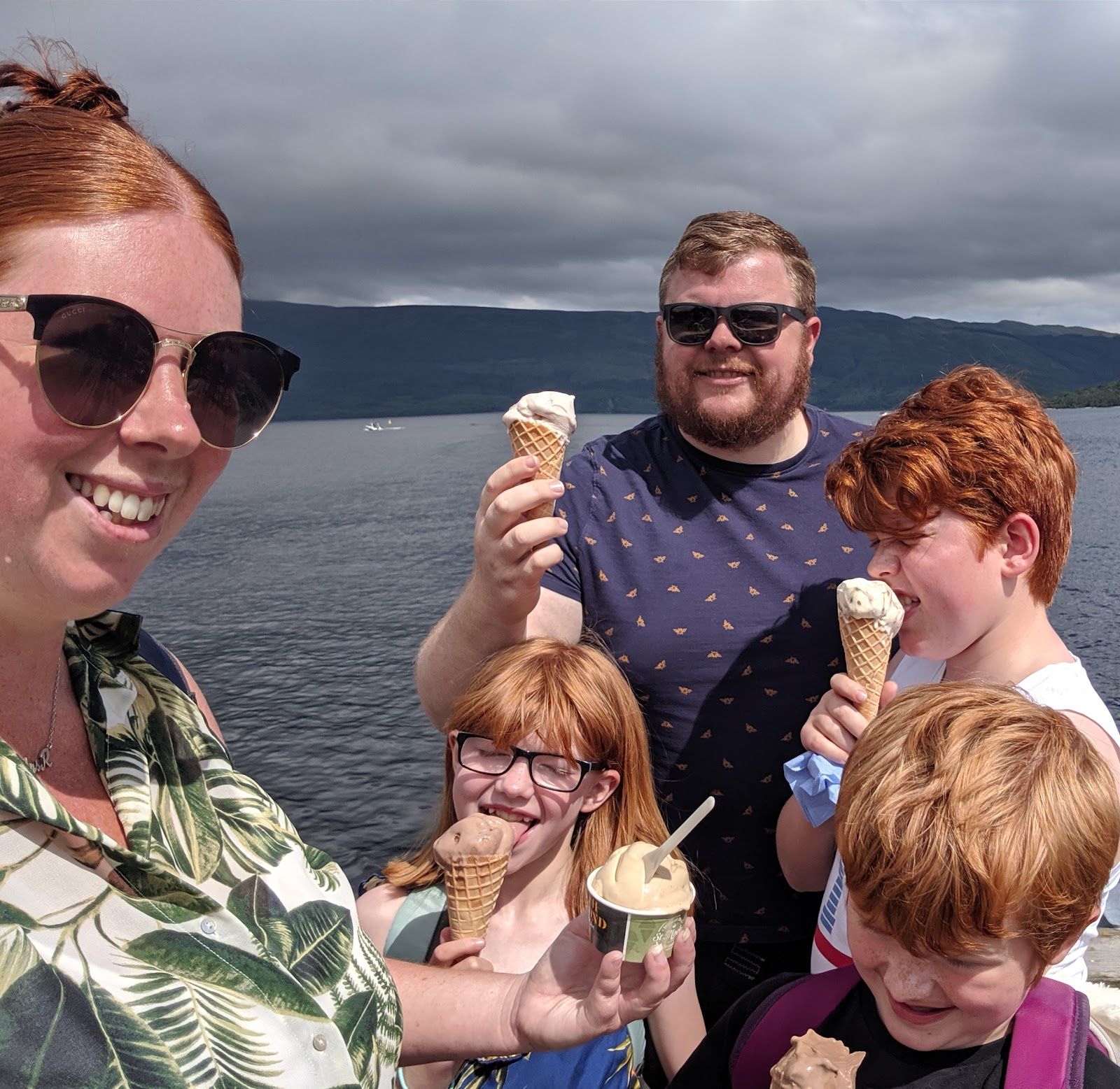 A Short Break at Cameron Lodges, Loch Lomond - Luss - ice cream on the pier