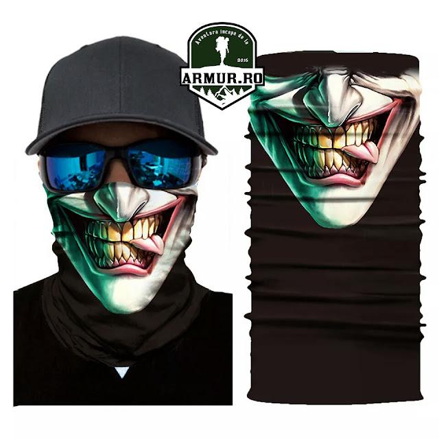 Bandana multifunctionala fata smile masca snowboard, ski, bike, moto