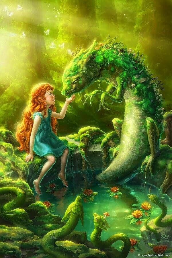 03-Moss-Dragon-Laura-Diehl-Fantasy-www-designstack-co