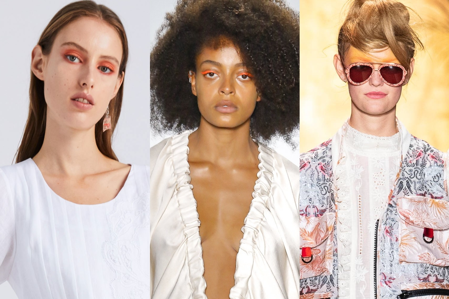 Makeup looks at Novis, Zero + Maria Cornejo, Anna Sui fashion runway shows