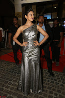 Rakul Preet Singh in Shining Glittering Golden Half Shoulder Gown at 64th Jio Filmfare Awards South ~  Exclusive 035.JPG