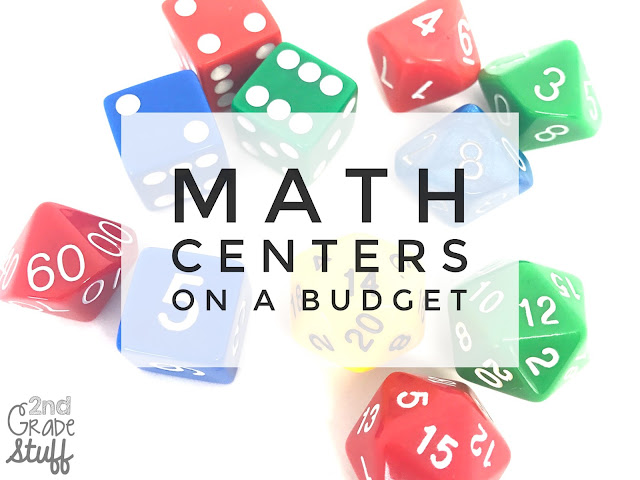 2nd Grade inexpensive math centers for the entire year!