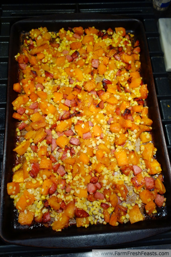 Farm Fresh Feasts Roasted Acorn And Butternut Squash With