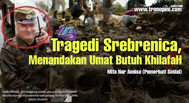 umat muslim Bosnia menandai peringatan 25 tahun pembantaian Srebrenica pada Sabtu (11/7) waktu setempat, di tengah pandemi virus corona