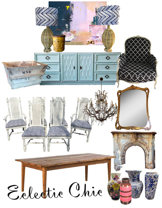Ecelctic Chic Dining Room-Chairish Mix n' Chic Challenge
