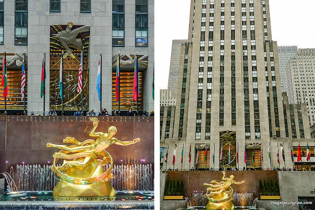 Fonte da Rockefeller Plaza, Nova York