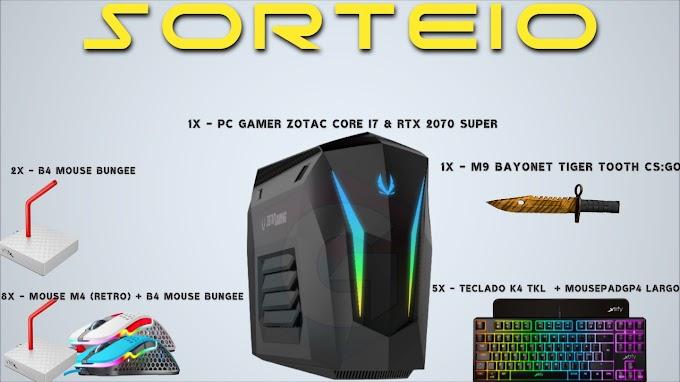 Sorteio de um PC Gamer Core i7 e RTX 2070 SUPER e Muito Mais