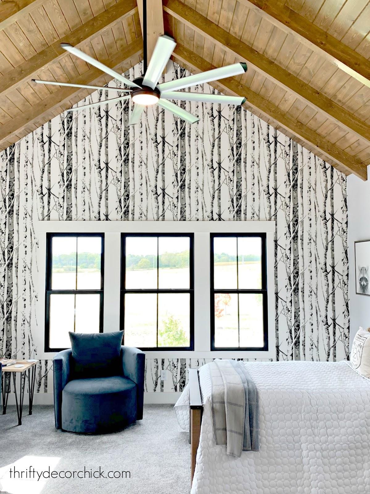 Birch tree wallpaper kids room