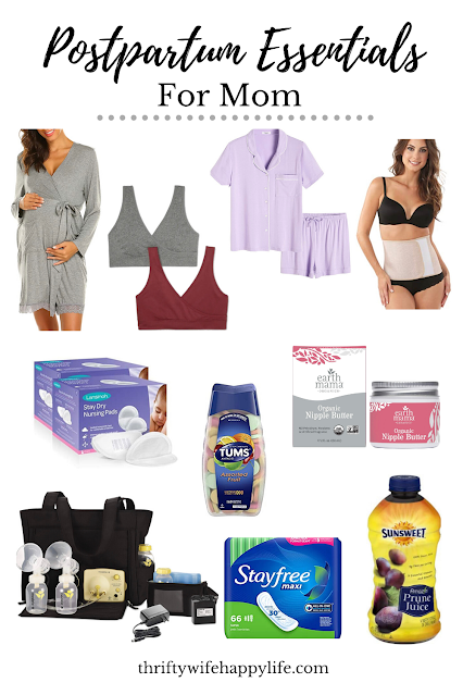 Postpartum Essentials for Moms
