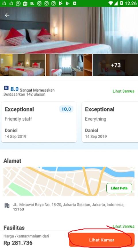 Lihat Kamar Hotel di Tokopedia