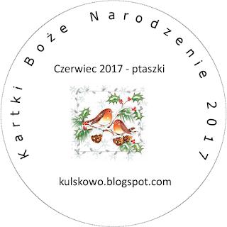 W czerwcu u Uleńki  - kartka z ptaszkiem