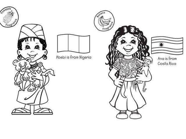 Dibujo De Nacionalidades Para Colorear: MAESTRA ERIKA VALECILLO: NIÑOS DEL MUNDO