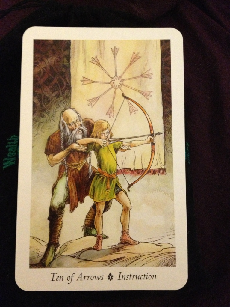 First Earth Tarot: 10 Arrows = Instruction