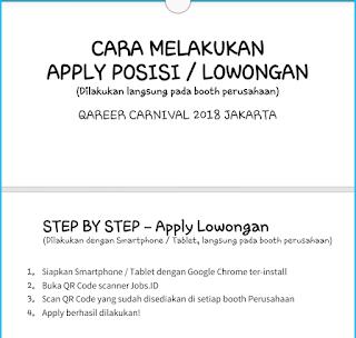 Cara memasukkan lowongan kerja 2018 di Qareer Carnival