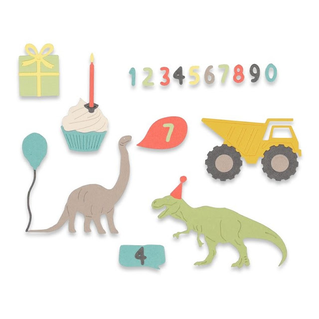 Sizzix Thinlits Die Set 15PK - Birthday Boy (662590)