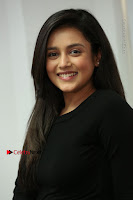 Telugu Actress Mishti Chakraborty Latest Pos in Black Top at Smile Pictures Production No 1 Movie Opening  0089.JPG