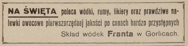 skład wódek Gorlice 1926