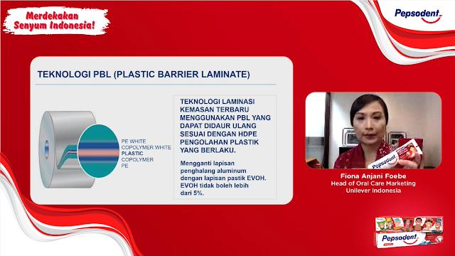 Kemasan plastik pepsodent 100% ramah lingkungan
