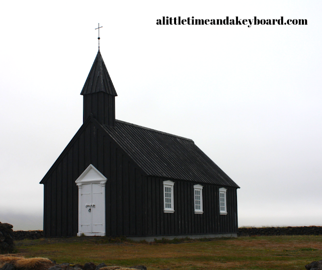 Buᵭir's small black church inspires many a picture on the Snaefellsnes Peninsula in Iceland