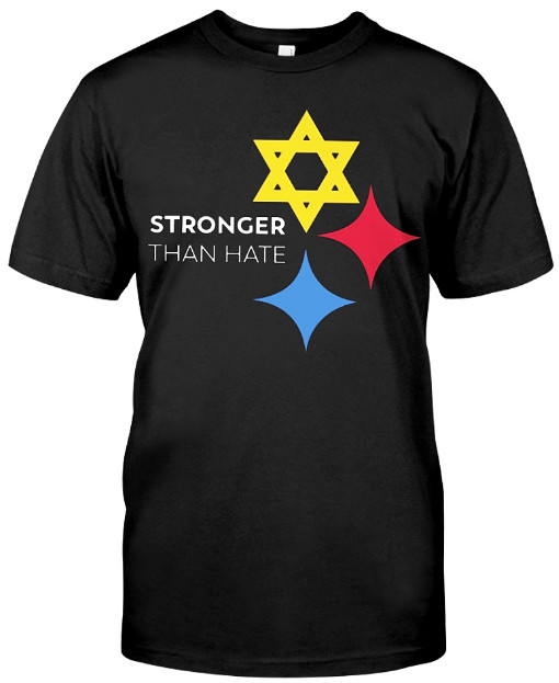 Pittsburgh Is Stronger Than Hate T Shirt HoodieSweatshirt Sweater Tank Tops. GET IT HERE