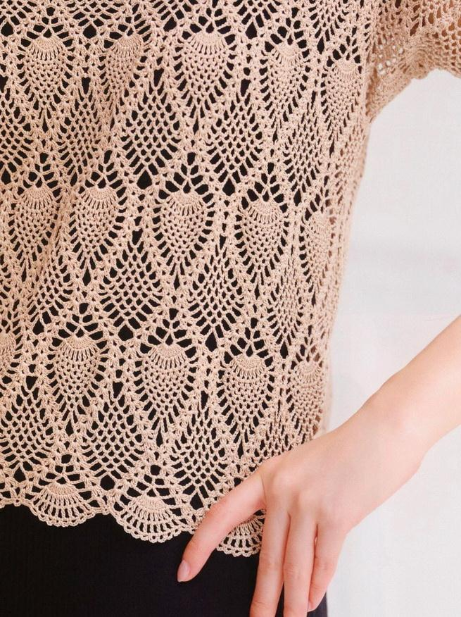 Crochet Blouse - Beautiful pineapple crochet stitch