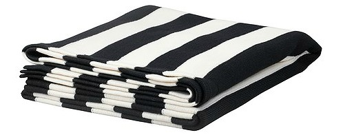 Black and white IKEA throw blanket