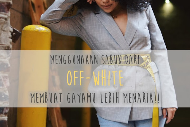 sabuk off white